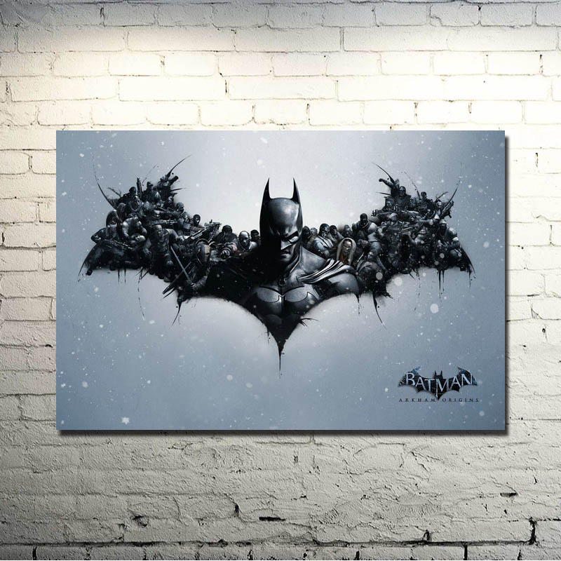 Batman Arkham City Arkham Origin Video Game Art Silk Fabric Poster Print 13x20 24x36 inch Room Decor Pictures 027