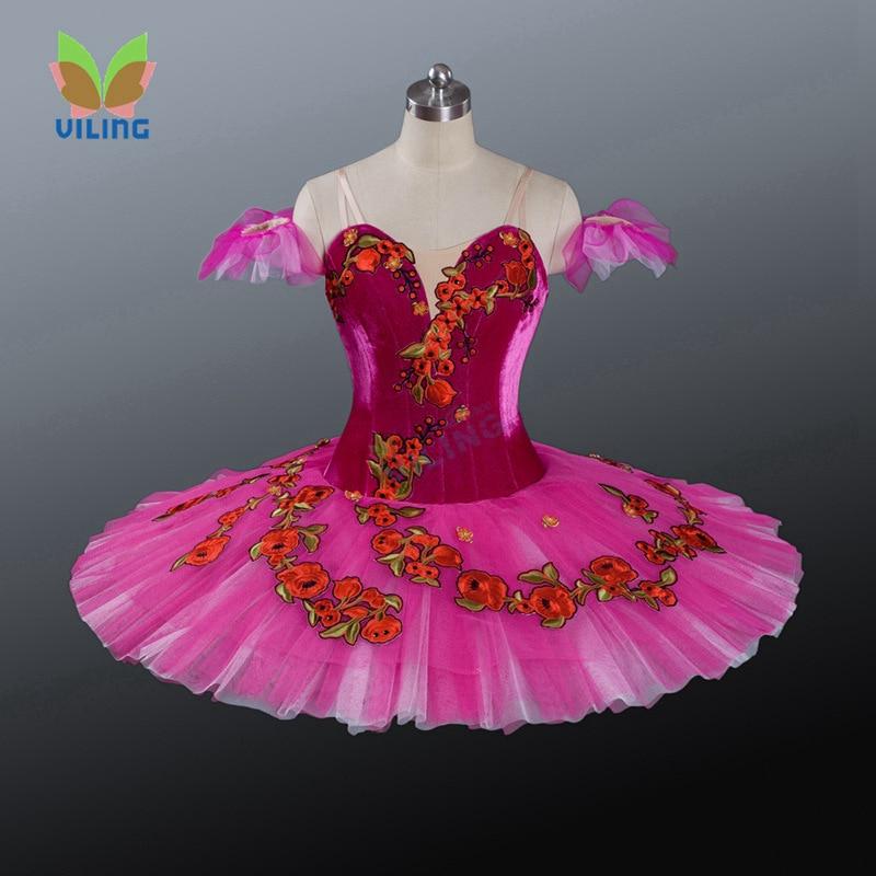 Hot Pink Classical Professional Ballet Tutu Pancake