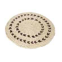 Handmade Large Straw Round Pouf Japanese Futon Seat Cushion Meditation Woven Tatami