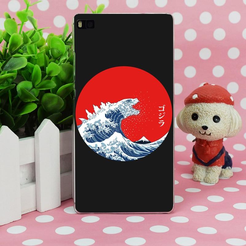 B1694 Хокусай Kaiju Прозрачный Жесткий Тонкий чехол кожного покрова для Huawei P 6 7 8 9 lite плюс Honor 6 7 4c 4x G7