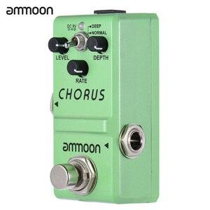 Педаль для гитарных эффектов ammoon серии Nano, аналоговый Хор, корпус из алюминиевого сплава