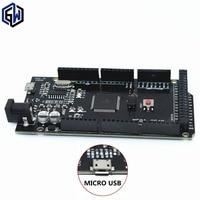1pcs Mega 2560 R3 CH340G ATmega2560 16AU MicroUSB Compatible For Arduino Mega 2560 With Bootloader Hei