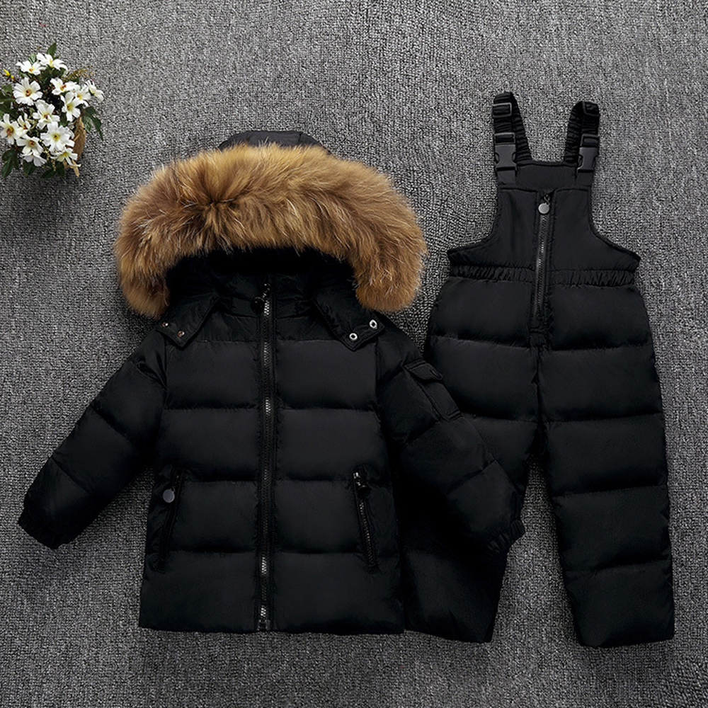 Russian Winter Snowsuit Boy Baby Jacket 80 Duck Outdoor Infant Clothes Girls Climbing