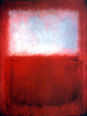 Imagich Art Center modern abstract art patterns color white cloud over red masterpiece art canvas paintings mural prints