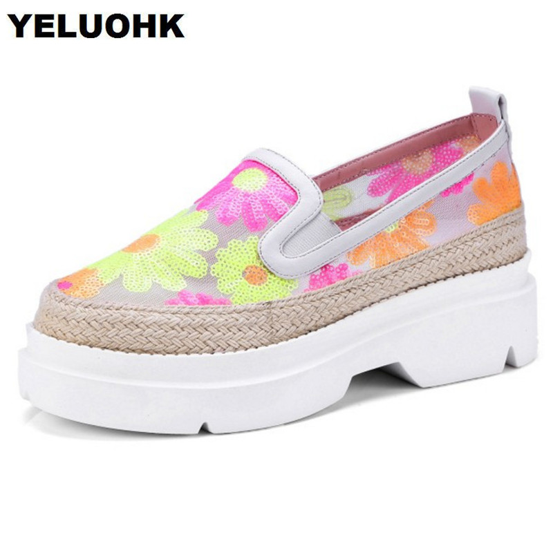 2018 Summer Shoes Women Flats Breathable Mesh Air Handmade Shoes Woman Tenis Feminino Casual Ladies Shoes Platform ceyue fashion brand women shoes breathable air mesh trainers 2017 spring autumn casual shoes woman walking flats tenis feminino