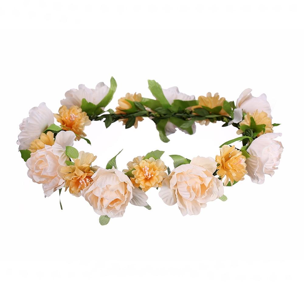 Aliexpress Buy Awaytr Hot Sale Women Bride Hair Wreaths Floral