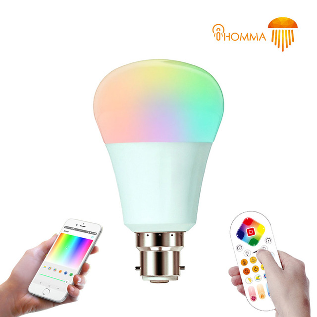 Ihomma B22 Smart Led Light Bulb Rgbw Bluetooth 4 0 Control Ir Remote Dimmable Color Change 110v 240v 7w 10w Lamp