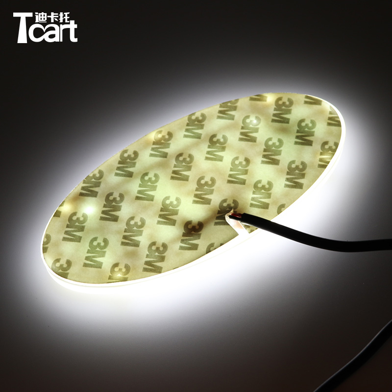 Tcart 4D led front Badge Sticker light LED light 4D logo light Emblems led For KIA k5 soul forte cerato sorento image