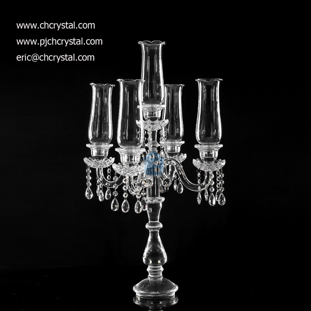 Luxury 81cm High Crystal Candelabra 5 arms For Wedding Event,Latest Wedding Decorations,Support Wholesale And Retail