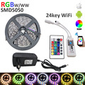 5M RGBW SMD 5050 LED Strip Light  IP20 DC12V 60Leds/M 300LEDs Flexible Light strip RGB White/WW+wifi 24key controlle+4A power