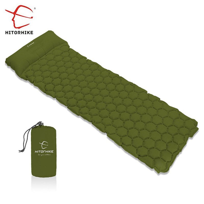 Hitorhike Inflatable Sleeping Pad Camping Mat With Pillow air mattress Cushion Sleeping Bag air sofas inflatable sofaFor Autumn -in Camping Mat from Sports & Entertainment