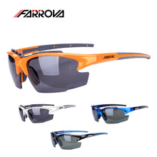 Farrova Men Sports Cycling Glasses Polarized Windproof Cycling Eyewear Bicycle Ciclismo Glasses Bike Sunglasses 3 Lens Mbt