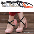 Leather Adjustable Straps Black Shoes Decoration Strap / Band / Belt Shoe Accessories 12 Colors 10 pairs/lot Free Shipping