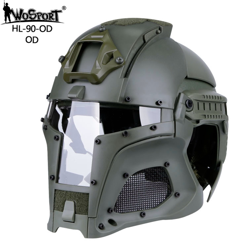 Outdoor Sports Airsoft Paintball Tactical Helmet Military Helmet CS Combat Helmet Overall Protect Helmet-in Helmets from Sports & Entertainment    2