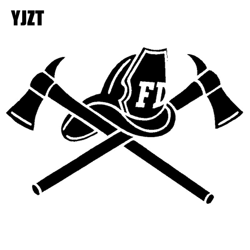 Exterior Accessories Car Stickers Yjzt 12.8x8.5cm Fire Fighter Helmet Axes Fireman Fire Hot Fun Decal Car Sticker Vinyl Black/silver S8-1346 To Win A High Admiration And Is Widely Trusted At Home And Abroad.
