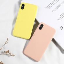 Coque de téléphone couleur bonbon pour iPhone 6 6s Plus XS XR XS MAX 7 8plus housses pour iPhone X de luxe à la mode souple en Silicone coque arrière en Silicone