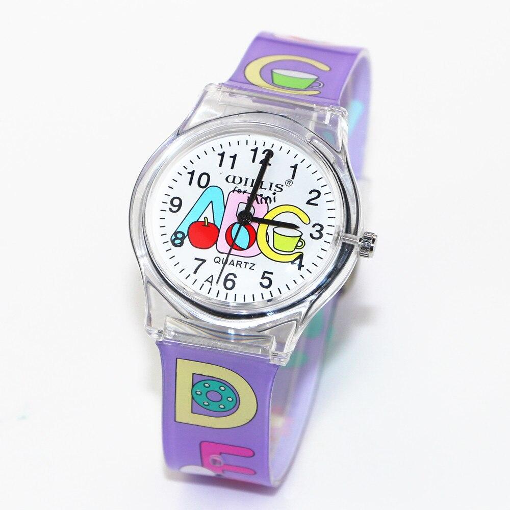 New Letter ABC Pattern Design Children Women Analog Quartz Wrist Waterproof Watch Student Dress Quartz Watches Clock Reloj