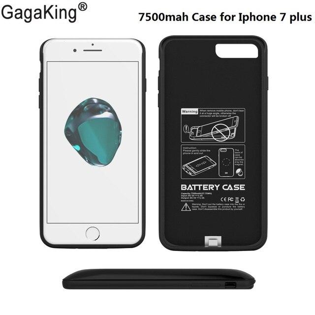 Novos casos de meio pacote de 7500 mah carregador externo de backup de bateria para iphone 7 plus caso charg célula de silício tampa do telefone freeshipping