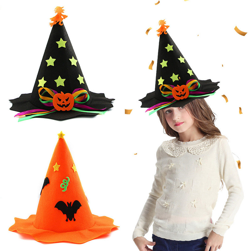 New Fashion Halloween Decoration Kids Boys Girls Party Shows Hats Costume Accessories Hat Props
