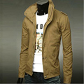 Fashion casual slim men stand collar jacket men military jacket autumn winter men jacket size:M-XXXL