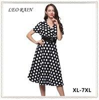 4XL 5XL 6XL Vestidos De Festa High Quality Summer Vintage Dress 2017 Women Retro Party Dresses