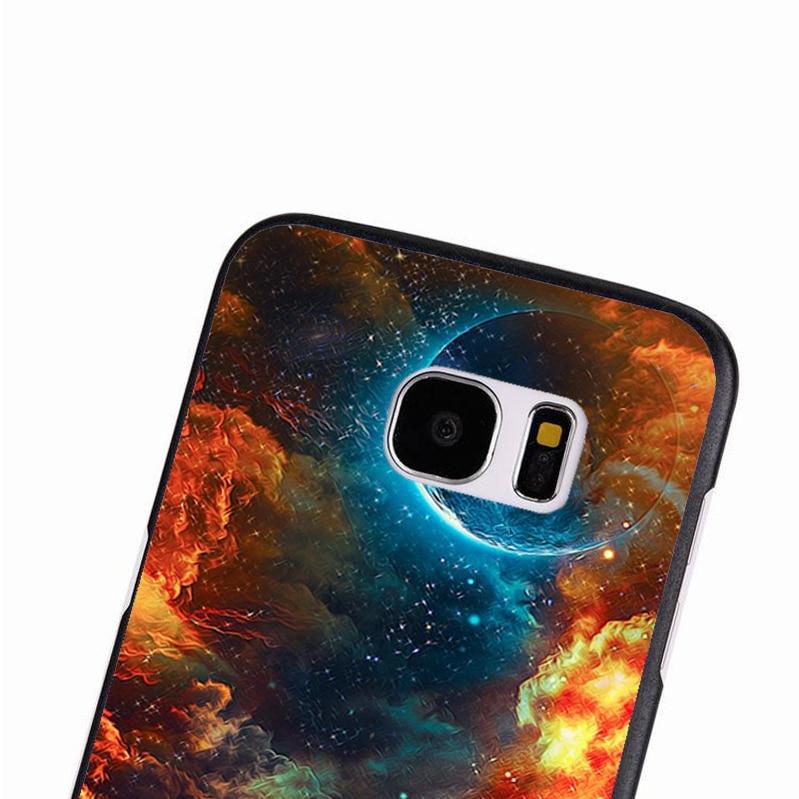 LvheCn phone case cover For Samsung Galaxy S3 S4 S5 mini S6 S7 S8 edge plus Note2 3 4 5 8 Increduble Psychedelic Desert Sky Art