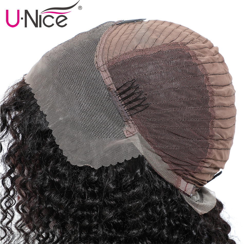 HTB1ODqHU6DpK1RjSZFrq6y78VXad Unice Hair 13x4 Short Lace Front Human Hair Bob Wigs Water Wave Brazilian Remy Hair Lace Wig Pre Plucked Hairline