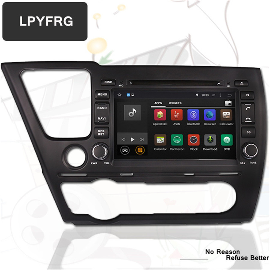 Android 8 1 Car DVD Player for Honda Civic Saloon 2013 2014 2015 with GPS Navigation