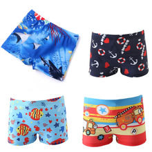 Baby Boy Swimming Trunks monkey car fish print Cartoon Bathing Suit Children Swim Shorts Kids toddler Beach Swimwear pool shorts(China)