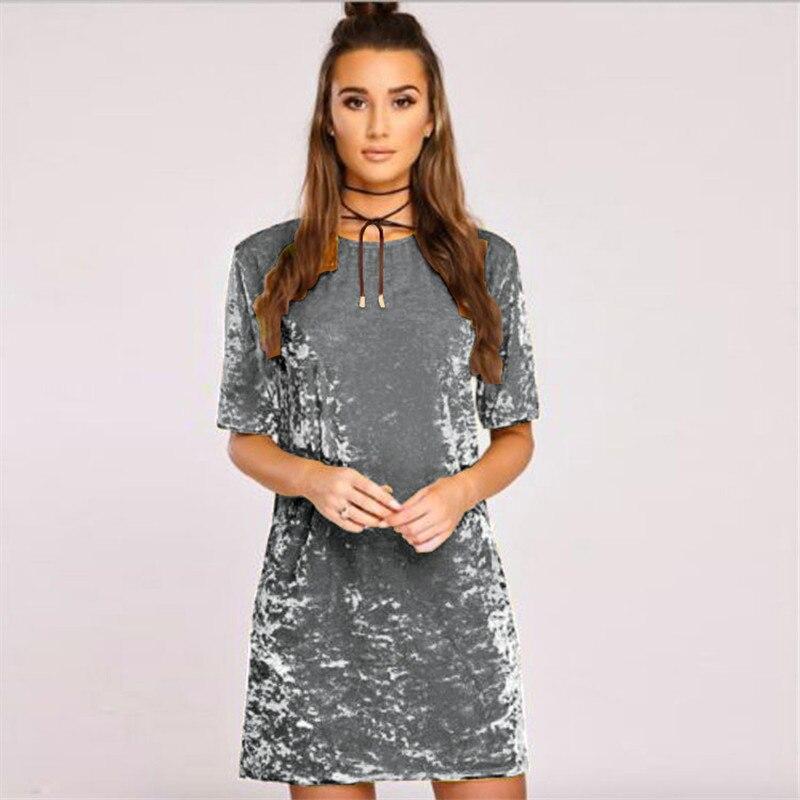 2017 Spring Summer Velvet Dress Women Shs