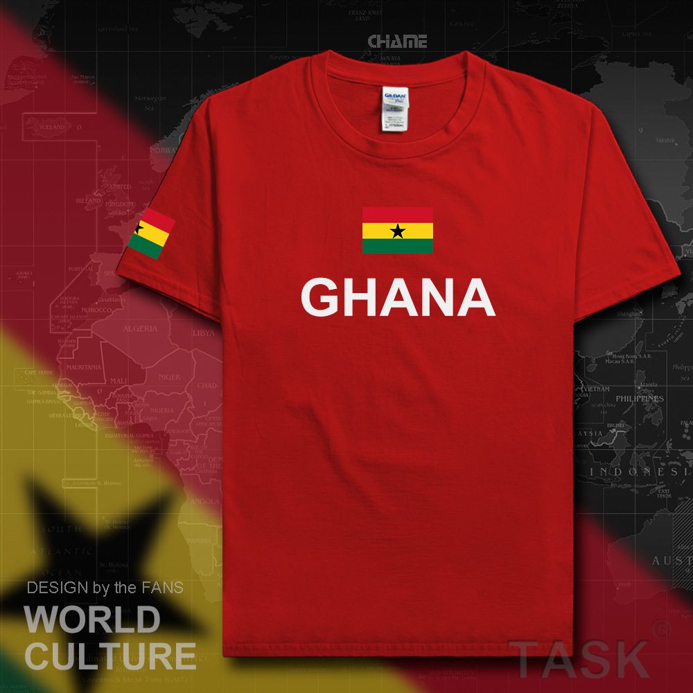 Republic of Ghana Ghanaian men t shirt fashion 2017 jersey nation team 100% cotton t-shirt clothing tees country sporting GHA GH