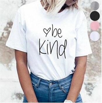 Sugarbaby być miły oświadczenie T-shirt funkcji umysłowych świadomości na temat zdrowia 5 kolory dostępne być miły, odzież z krótkim rękawem moda Top