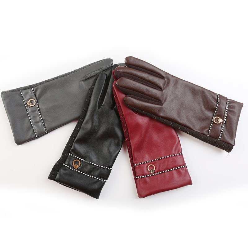 Fashion Touch Screen Gloves Leather gloves womens