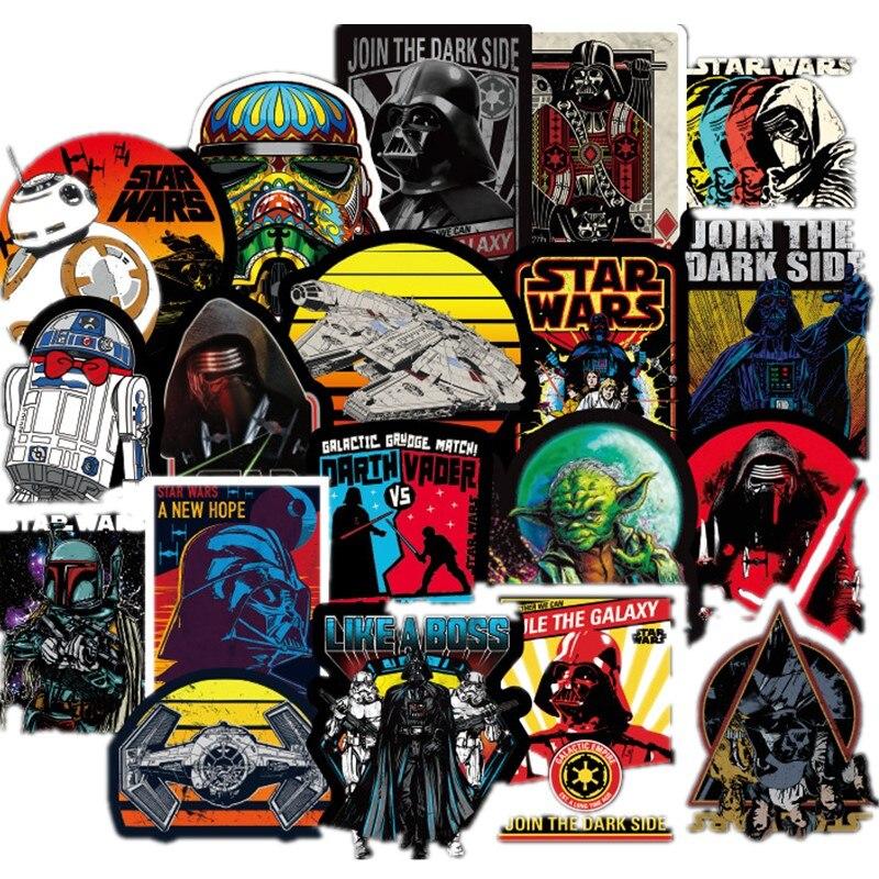 50-100pcs Star Wars Graffiti Stickers Superhero Skateboard Motorcycle Draw Box Stickers Cartoon Stickers