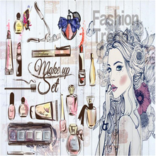 beibehang Fashion Art Nail Salon Beauty Shop Hand Painted Girl Wallpaper 3d Clothing Store Background Wall Decoration Wallpaper free shipping makeup girl wallpaper theme salon clothing store cosmetics shop manicure background wallpaper mural