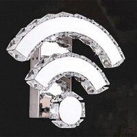 Kreative Kristall wifi Form Wandleuchte Moderne 14 Watt LED Wandleuchte für Hotel Schlafzimmer Flur Treppe Neuheit Innenbeleuchtung wandlampen