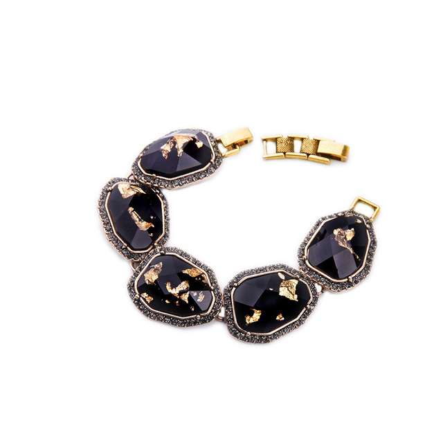High Quality Patterned Resin Geometric Statement Bracelet Vintage Egyptian Whole Gold Color