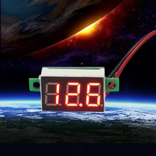 Мини Размеры светодиодный Панель Напряжение метра 3-цифровая Регулировка вольтметр 3-цифровой ЖК-дисплей Дисплей Регулировка вольтметр 200 также доступна службами EMS Время Лидер продаж