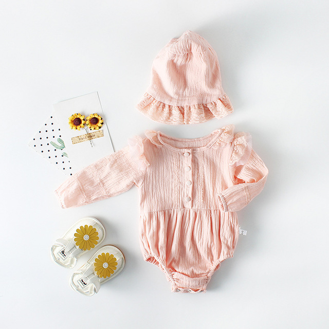 c384e2c09e64 Soft cotton lace Romper for baby toddler kids Clothing autumn ...