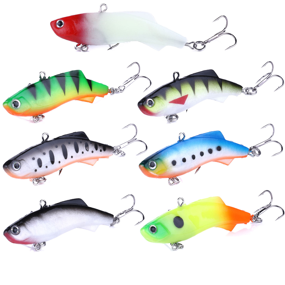 HENGJIA 1PC Soft Wobbler Lead Jig Head 7 5cm 17 2g VIB Fishing Lures Shape Hard Bait Pesca Fishing Tackle in Fishing Lures from Sports Entertainment