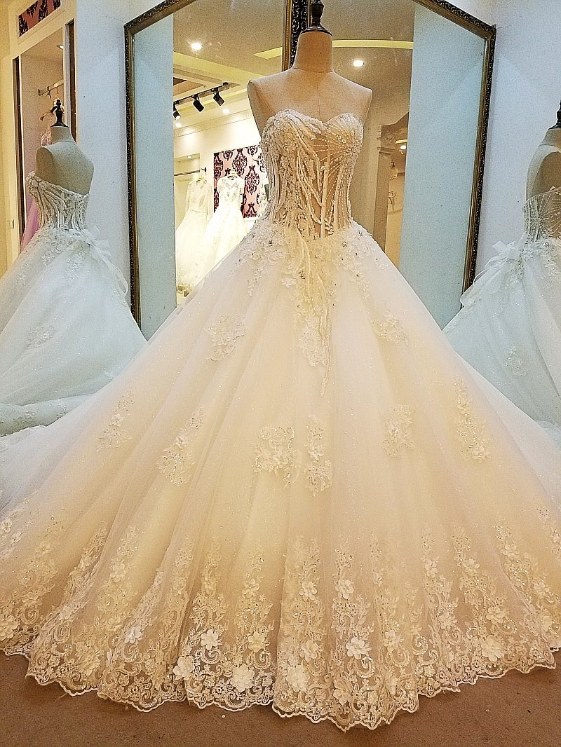 to wear - Wedding Strapless dresses with diamonds video