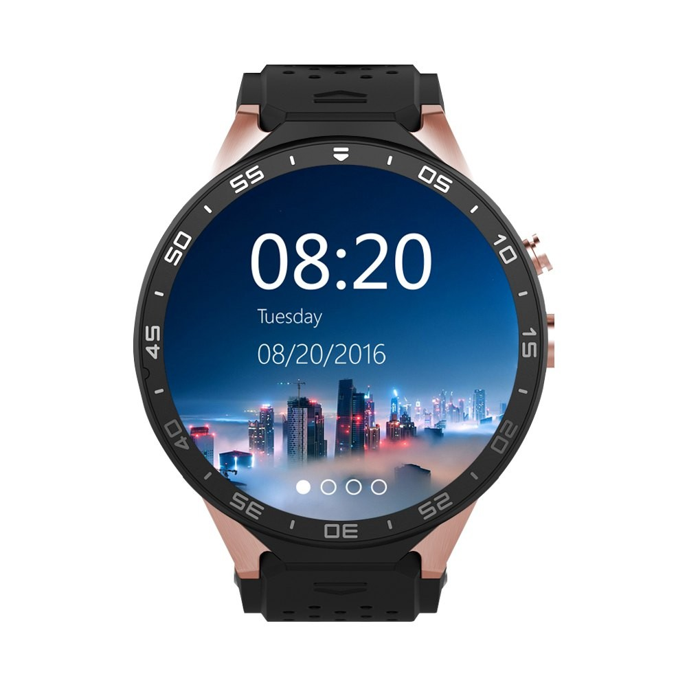 KW88 Smart Watch MTK6580 With Android 5.1 OS Sim Card Pedometer Camera 5.0M 3G WIFI GPS WIFI Positioning SOS Movement Watch