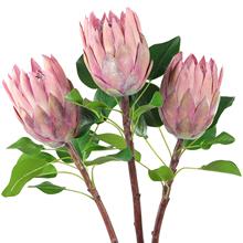 Rinlong Artificial Protea Cynaroides Silk Flower for Floral Arrangements Home Party Fake Flowers