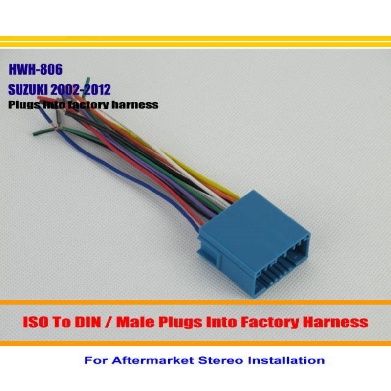 liislee car stereo radio iso wire connector cable for suzuki aerio rh aliexpress com