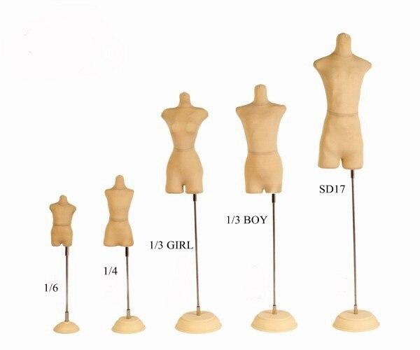 [wamami]  Noemal Foam Mannequin For 1/6 Women Men BJD Dollfie Clothe/Dress DIY OOAK Accessory 1 3 1 4 1 6 1 8 1 12 bjd wigs fashion light gray fur wig bjd sd short wig for diy dollfie