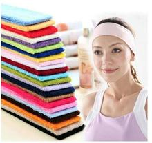 200pcs/lot! Fashion Women Lady Girls Terylene Elastic Hairband Headband Sport Soft Hair Band Q036