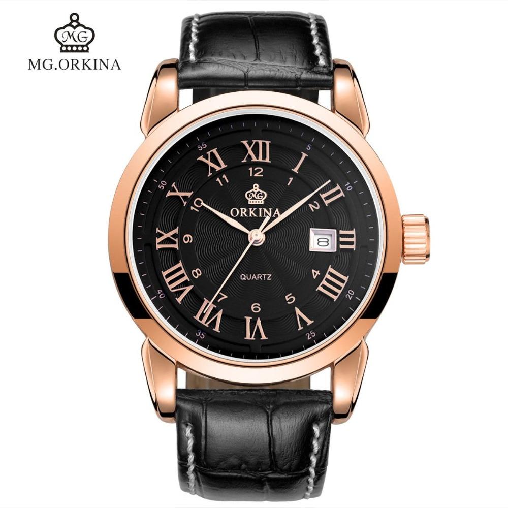 Fashion Men's Horloges Mannen Roman Auto Day Quartz S !