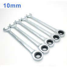 1piece 10mm Ratcheting Combination Key Hand Tool Wrench Open-ring Spanners  Wrench Set Hand Tools Repairing stanley ratcheting wrench 4 95 660