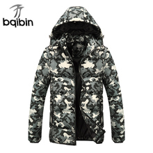 Winter New Men Jacket 2017 Casual Mens Design camouflage Cotton Jackets Coats warm Thick Parka Men Outwear M-5XL 3Color