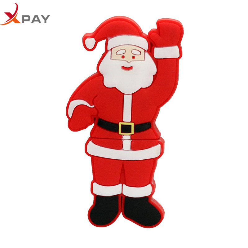 Image 2 - usb flash drive Silicone 128GB pendrive 32gb 2.0 usb stick creativos Santa Claus pen drive 64GB 8GB 4GB Christmas Series cle usb-in USB Flash Drives from Computer & Office